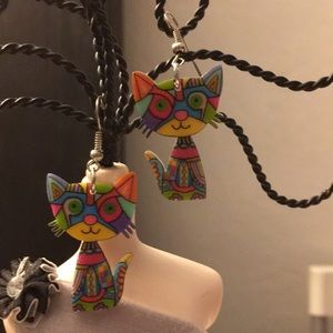 Jewelry - HOT🔥 & OVER THE🌈 RAINBOW KITTY🐱 EARRINGS